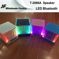 Compra T equipo-LED T-2086A Altavoz FM Magic Cube Super Loud inalámbrico Bluetooth Hifi Altavoces TF ranura para tarjeta / puerto USB para iPhone iPad Samsung MP3 Computadoras