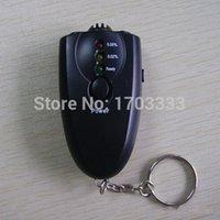 Wholesale 150pcs Breathalyzer LED Light Accurate Breath Alcohol Tester Flashlight Black Colored