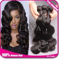 Wholesale Cheap A Virgin Brazilian Malaysian Indian Peruvian Mongolian Chinese Hair Body Wave Human Hair Weave Bundles Human Hair Extension