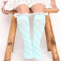 aqua socks - knee socks girls boot lace ruffle long sock aqua girls lace leg warmer children s knee high socks