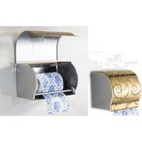 Wholesale Fashion Pattern Style Colors Stainless Steel Waterproof Toilet Paper Holder Tissue Paper Holder Organizer