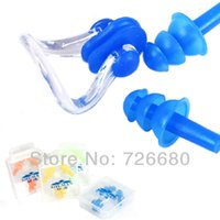 Wholesale Waterproof Silicone Practical Comfortable Soft Swimming Water Supplies Nose Clip Swim Ear Plug Set