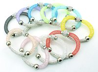 beaded jewelry cover - New Arrival Stardust Bracelets Filled Crystal Mesh Fashion Color Strands Infinity Length Covering Bracelets Jewelry