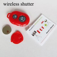 Wholesale wireless bluetooth shutter selfie remote control camera shutter universal for android ios mobile phone