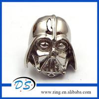 hat pins - Unique Design Silver Pleated Star Wars Brooch Super Hero lapel pin badge hat pin tie tack pin brooch