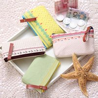 Cheap New Arrival Fashion Pastoral Cosmetic Storage Bag Coins Purse Pencil Case 4 Colors Drop Shipping BG-0442
