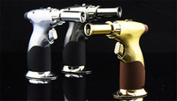 Wholesale 2015 New arrives Flames Refillable Butane Torch Lighter powerful