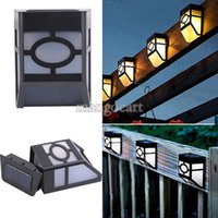 led solar lights - Outdoor Decorative Garden led wall light Solar Powered Lighting Lamps for Pathway Up Stair Wall Mounted Fence Yard
