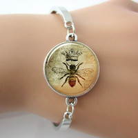 bee cuffs - Queen Bee Bracelet Royal Crown Insect Art Cuff Bangle Bee Jewelry New Style For Women Gift pc hot Selling