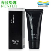 Wholesale Pilaten Black Mask Deep Cleansing Facial Mask Tearing Style Resist Oily Skin Strawberry Nose Acne Blackhead Remover Black Mud Masks Care g