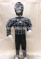 amazing spider game - Amazing Spiderman Black Muscle Chest Children s cosplay halloween party costumes Spider Man Superhero Muscle Halloween