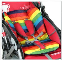 Wholesale waterproof baby Stroller Cushion Stroller Pad Pram Padding Liner Car Seat Pad Rainbow thick mat