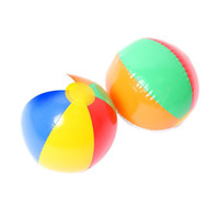Wholesale Beach Ball Colour Striped Rainbow Beach Ball Outdoor Beach Ball Water Sports Balloon For Children cm