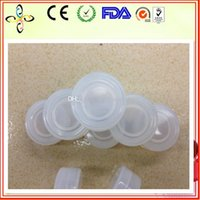Wholesale Top quality ml clear color food grade silicone container mm silicone jars dab wax container