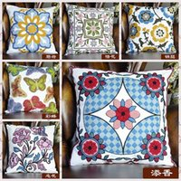 Wholesale Flower cushion cover set Embroidered Pillow Case Chinese Style gifts for new house home sofa car decoration waist pillow cover