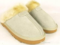 Wholesale Factory Outlet Australia Classic Women Men Cow Leather Snow Adult Slippers boots colors pink sand chestnut chocolate black grey us5