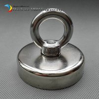 Wholesale 2pcs kg Pulling Lifting Magnet Dia x mm M10 Countersunk Hole Strong Mounting Pot Magnet Neodymium Permanent Magnets quot dia