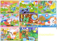 allegory paintings - Big Size cm DIY Allegory Animals Puzzle EVA Sticker Paintings Educational DIY D Sticker Toy
