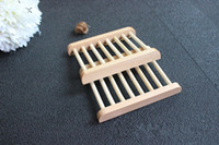 Wholesale Soap Box Designs Natural S Superba cm Handmade Wooden Soap Holder Bath Sets BH28