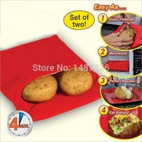Wholesale Baked Potato Cooking Bag cooks potatos at once Cooking Tools Steam Pocket In Minutes Easy Cooking Potato Bag