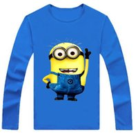 Wholesale Despicable Me Children s Long Sleeve T Shirts Minions Jerry Boys Spring Tee Tops Shirts Cotton