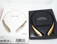 Wholesale HBS800 Headsets HBS Wireless Bluetooth Stereo Headset Earphone Handsfree in ear headphones VS HB HBS with Retail package