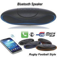 Cheap Mini Speaker Wireless Bluetooth Speaker Portable Rugby Football Style Mini Outdoor loudspeaker with TF FM Radio Music For iPhone HTC JF-A9