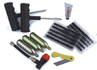 atv tire repair - tire repair tools w convenient bag motorcycle co2 cartridges atv tire kit glue knife Repair Strip Sealer Puncture Plug Tool