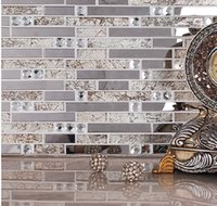 Wholesale Crystal glass mosaic tiles living room tiles TV background wall stickers Building Materials