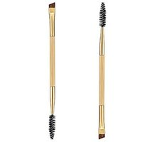 Wholesale Makeup tools bamboo handle double eyebrow brush eyebrow comb and makeup brush