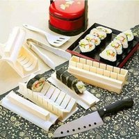 Wholesale Sushi Maker Kit Rice Roll Mold Kitchen DIY Easy Chef Set Mould Roller Cutter Japanese Multifunctional Mould Suit Sushi Making