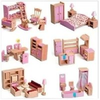 wooden kitchen sets toy - Hot sale children gift kids wooden toy Furniture doll house set Kitchen dinning roon