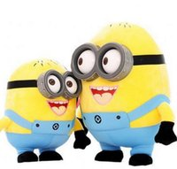 3d movies - 2015 Cheap Creative Minions D eyes plastic eyes yellow doll plush toys for kids best gift