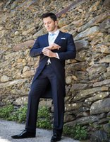 best men suit designers - Custom Tuxedo Groom Wedding Dress Designer Man Suitable For The Groom s Best Man Suit A Button For The Wedding Of Blue