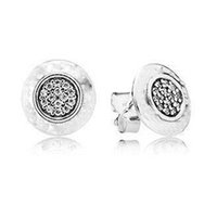 Wholesale 925 Silver Signature Earring with Clear Cz fine jewelry sterling silver ring CE567