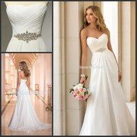 Wholesale Vestidos De Novia Sexy Chiffon Beach Wedding Dress Vintage Boho Cheap Wedding Dress Robe De Mariage Bridal Gown Casamento Champagne