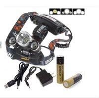 Wholesale 6000 Lumens XM L xT6 R5 LED Headlight Head Lamp USB Charger Battery