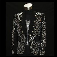 ballroom dance outfits - Shining Rhinestone Stage Performance Wear Black Color Fashion Dance Clothing for Ballroom Nightclub Trendy Jacket Outfits DH