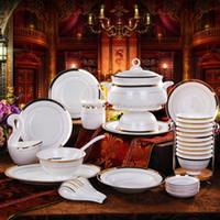 Wholesale 56 bone china dinnerware bowl set dishes set dishes ceramics tableware