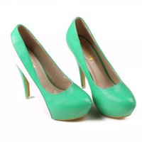 Wholesale 4 inch High Heels Green Wedding Shoes Lady Formal Dress Shoes Women s Fashion Shoes DY2665