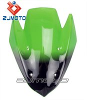 Wholesale Motorcycle Windshield WindScreen For Kawasaki Z1000 Z Green Windscreen Racing Windshield Screen zjmoto