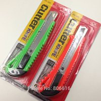 Wholesale 20CM Random Color Metal Utility Knife Art Knife Cutter Advanced Tool