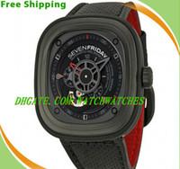 Wholesale luxury SEVENFRIDAY Industrial Engines Automatic Black Dial Black Rubber Men s Watch P3