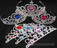 Cheap 2015 Frozen fever Crown for Girls Hair Accessories Cinderella Tiara Crown for Children Party Cosplay Crown Tiara A15040404