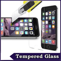 Wholesale 9H Explosion Proof Tempered Glass Screen Protector Film For iPhone S Plus SE S Samsung Galaxy S7 Note S6 S5 S4 Free Ship MOQ