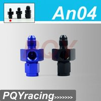 Wholesale J2 RACING STORE AN AN4 Male to Female Twin quot NPT Gauge Sensor Side Port Adapter Black or Blue PQY SL9192