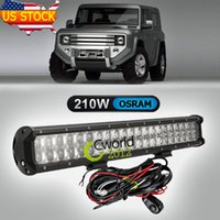 Cheap 20 Inch 210W Osram Offroad LED Light Bar Auto SUV Truck 4x4 AWD Styling Auxiliary Bumper Headlight Hyper Spot Combo Beam Lamp