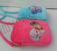 Wholesale Frozen princess Anna Elsa soft Plush Kids Money Backpacks Childs Girls Women Phone Bag cross body shoulder bag