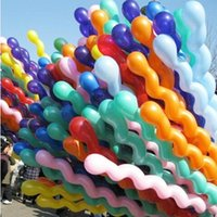 Wholesale Cheap Colorful Long Spiral Latex Screw Balloons Festival Party Decoration Ballons