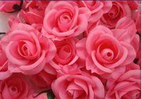 Wholesale 3000pcs BEST SELLER FLOWER HEADS Artificial Silk Camellia Rose Peony Flower Head cm Y294